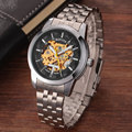 Luxury New Sport Watch Men Fashion Casual Skeleton Automatic Mechanical Stainless Steel Mens Wrist Watches For