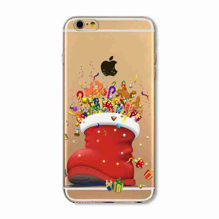 For iphone 4 4s 5 5s 5c 6 6s,6 Plus,6s Plus Phone Case Christmas Sock Xmas Gift Hard Plastic Case Back Cover(China (Mainland))