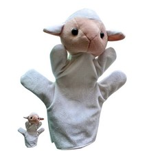 1Set Baby Family Fun Animal Finger Hand Puppet Plush Toys Cartoon Happy Kids Learning & Education Toys Gifts W20(China)