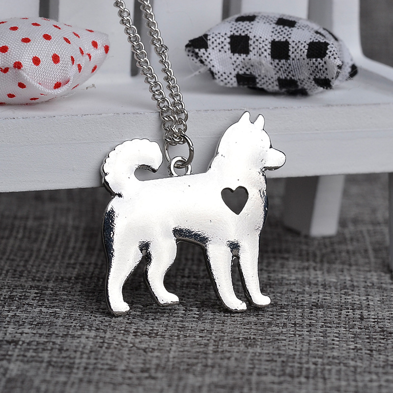 Husky Necklace Siberian Alaskan Malamute Akita Dog Necklace Personalized Memorial Gift Family Pet Necklaces & Pendants Women(China (Mainland))