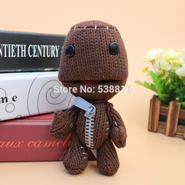 Little Big Planet Plush Toys Brown Sackboy Sackgirl Sackosarus Stuffed Animals Soft Dolls(China (Mainland))