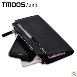 100% Genuine Leather Men's Wallet Genuine Leather Long Design Multifunctional Cowhide Wallet Commercial Gift Wallet Purses(China (Mainland))