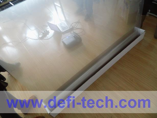 10M * 1.5M Window shopping display Transparent holographic Projection film projector screen(China (Mainland))