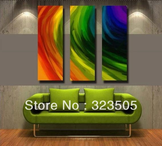 3 piece canvas wall art Modern abstract wall deco abstract artwork picture oil painting set home deco living room free shipping(China (Mainland))
