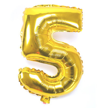 """1 pcs 16"""" Helium Balloons  Foil Balloon Silver/Gold Number 5 Balloons Birthday New Year Party Wedding Decoration Balloon"""