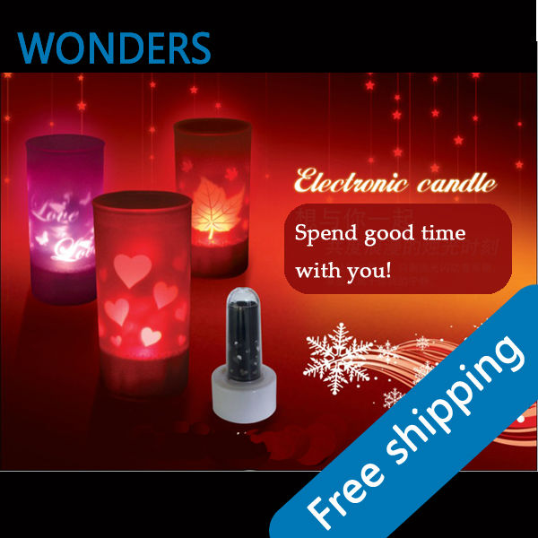 Romantic candle light color changing Wedding Birthday Party Christmas Decoration(China (Mainland))