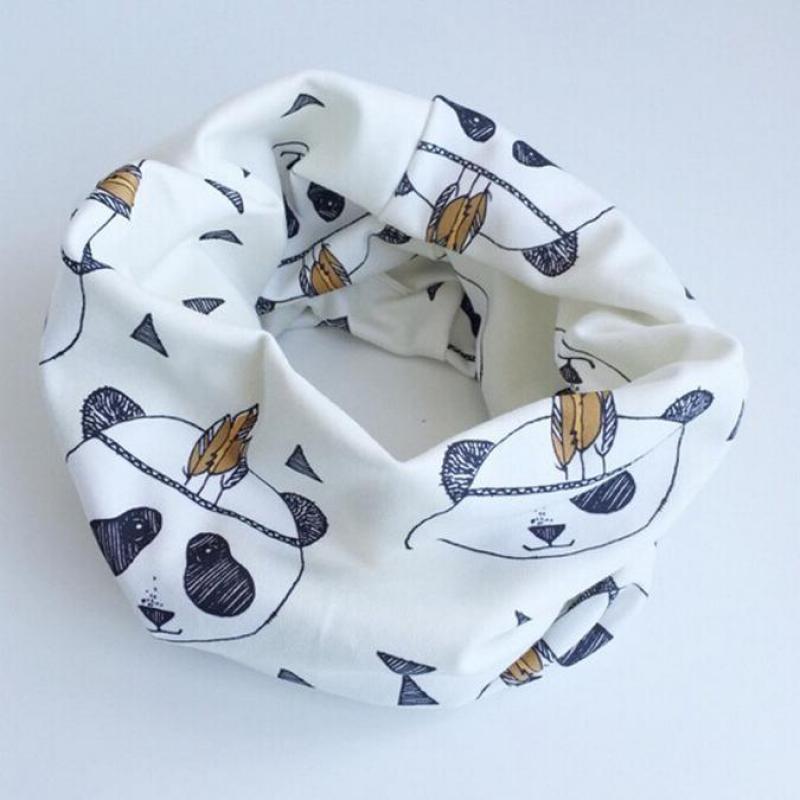 Cotton Baby Scarf Tiger Panda Tent Design Printing Kids Scarves Winter Children Collars Boys Girls Animal O Ring Neckerchief(China (Mainland))