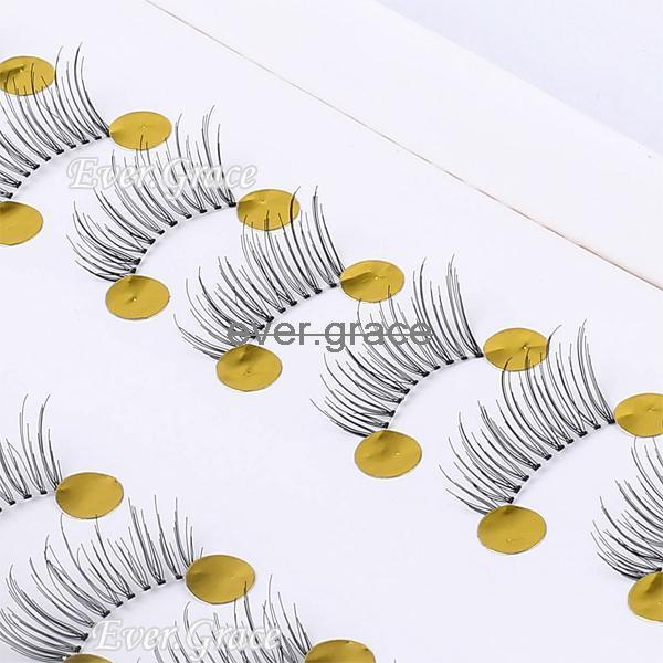 10 Pair Makeup Half Eye Lash Winged False Eyelahes Mini Lashes Corner Fake Eye Lashes Handmade(China (Mainland))