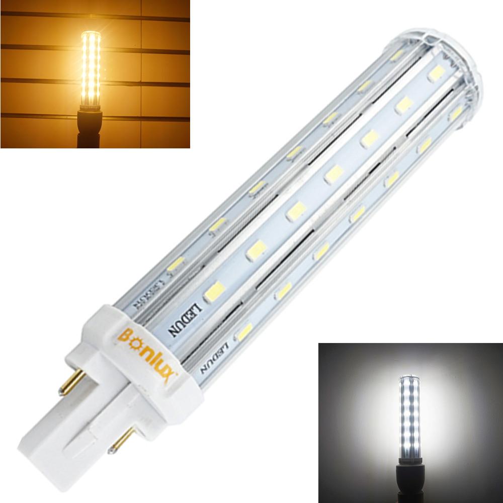Bombillas LED G24 2-Pin Base Corn Light Bulb 110V 220V 13W G24 PLC Lamp Horizontal Plug Light with 30W CFL Replacement <br><br>Aliexpress