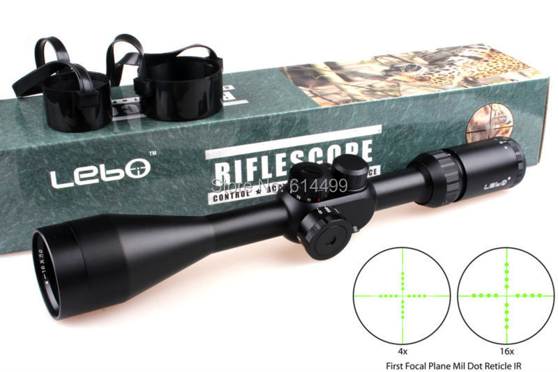 Hunting Shooting LEBO TC 4-16X50 IR First Focal Plane Side Parallax Mil-dot Rifle Tactical Scopes<br><br>Aliexpress