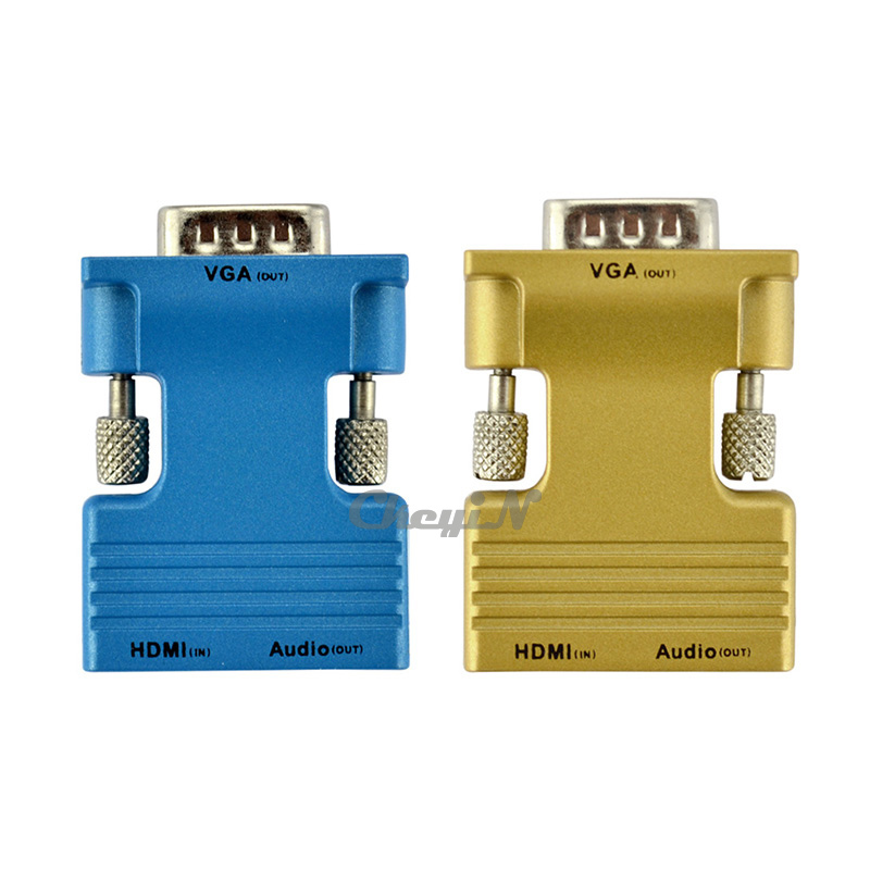 Гаджет  New Arrival Female HDMI To Male VGA Audio Adapter HDMI HD Cable Converter Adapter For Computer Laptop Desktop DDA52-S25 None Бытовая электроника