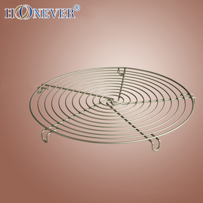Nonstick Cake Cooling Rack Kitchen Holder Rack Biscuits Bread Muffins Stand Rack Baking Pastry Frame Round Stainless Steel(China (Mainland))