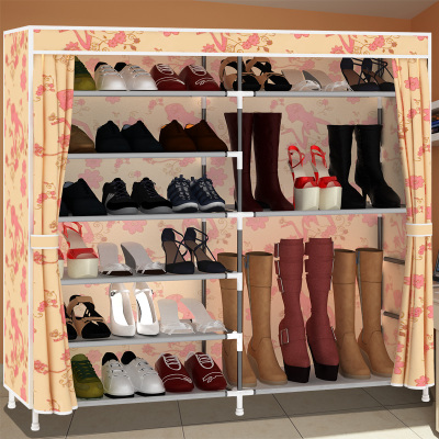 Oxford cloth dust shoe rack simple multi-layer assembled stainless Cheap<br><br>Aliexpress