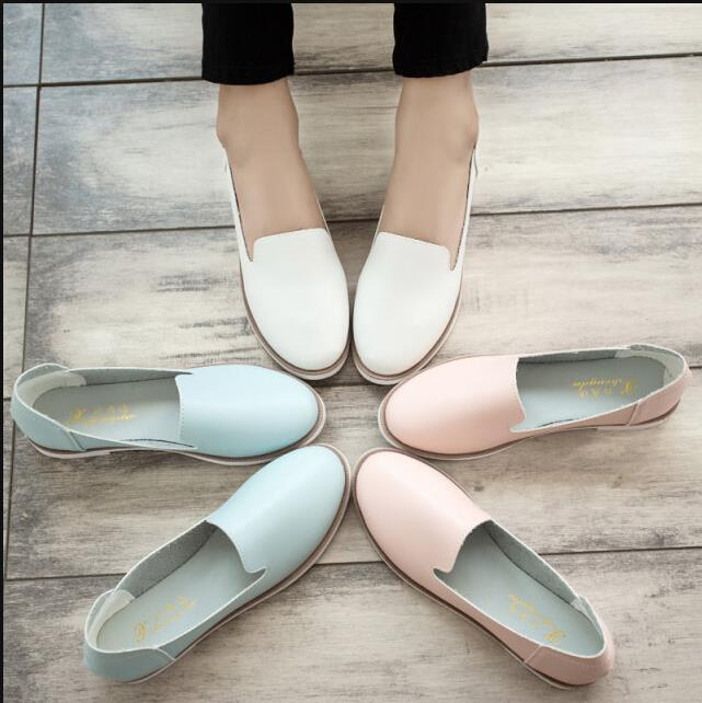 Hot!! 2016 Spring New Street Korea Little White Shoes Fashion Wind Flat Shoes Flat Womens Shoes For Women Ladies Girls<br><br>Aliexpress