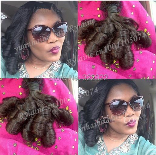 7a quality 3pcs/lot 1b# 100% virgin russian egg curl virgin funmi hair for black women free shipping<br><br>Aliexpress