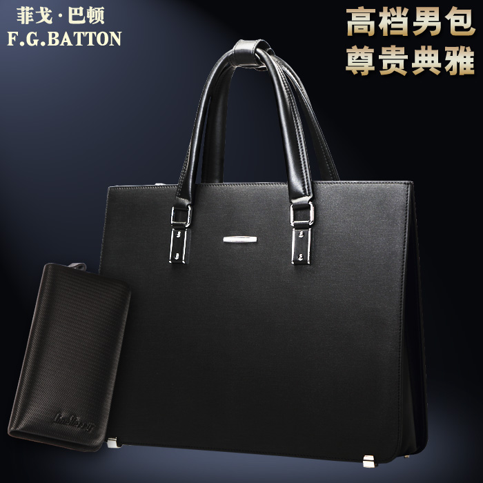 high-end men bags handbag Korean leather bag men of business travel documents in Baotou layer of leather computer bag(China (Mainland))