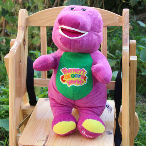 "NEW Singing Barney and Friends Barney 11"" I LOVE YOU Song PLUSH DOLL TOY RARE(China (Mainland))"