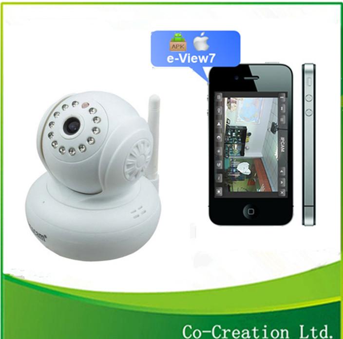 2014 New Mini Dual Audio PanTilt Speed Plug&Play Camera IP Wifi CCTV IR Motion Detection Home Security System(China (Mainland))