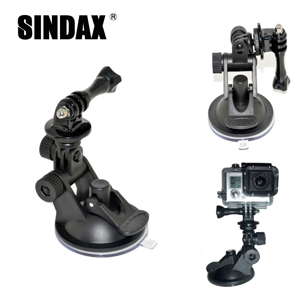 Professional tripod For Gopro Xiaomi yi Accessories Car Suction Cup Mount Holder Tripod Mount Adapter For Gopro Hero Camera(China (Mainland))