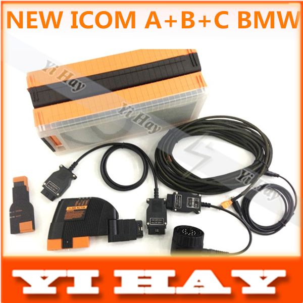New design with carry box ICOM A+B+C high quality hardware without software HDD , professional diagnostic scan tool for bmvv(China (Mainland))
