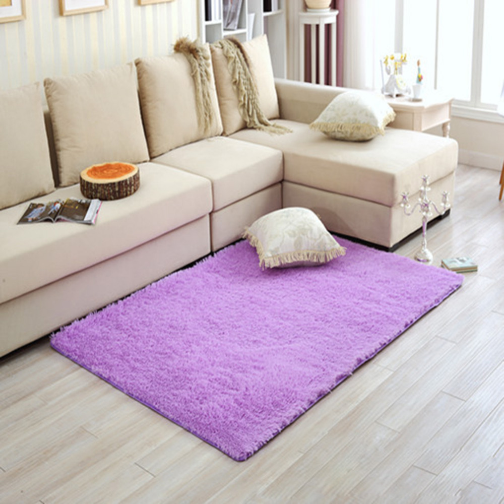 long plush shaggy warm soft carpet area rug slip resistant