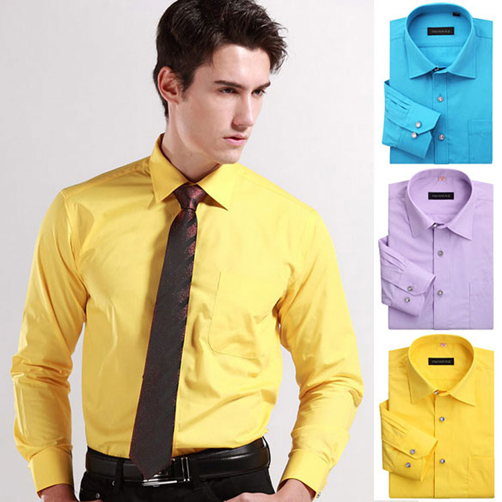 mens yellow long sleeve shirt artee shirt