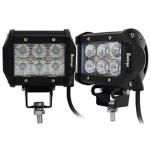 2pcs 4inch offroad led light bar 18w led work lamp near far spot flood light 12v 24v offroad truck trailer 4X4 led work light(China (Mainland))