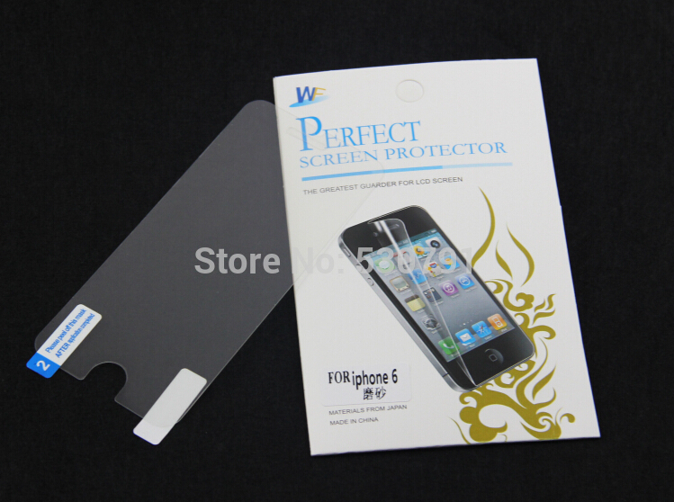 10sets matte front back films retail package Screen Protector Film iphone6 4.7inch anti dust