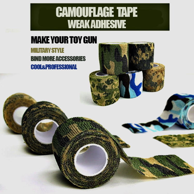 Nerf gun accessories Camouflage TAP makes your toy gun military Style Outdoor Camouflage Stealth Waterproof Wrap Durable(China (Mainland))