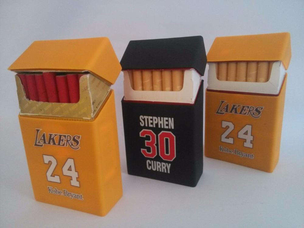 Creative basketball super star silicone rubber cigarette case cover master fashion sports cigarette case Storage case box(China (Mainland))