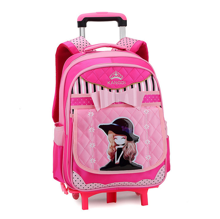 Children Detachable Trolley School bag Orthopedic bags Girls Kids Fashion Cute Backpack Mochila Infantil Escolar - Baby & Honey store