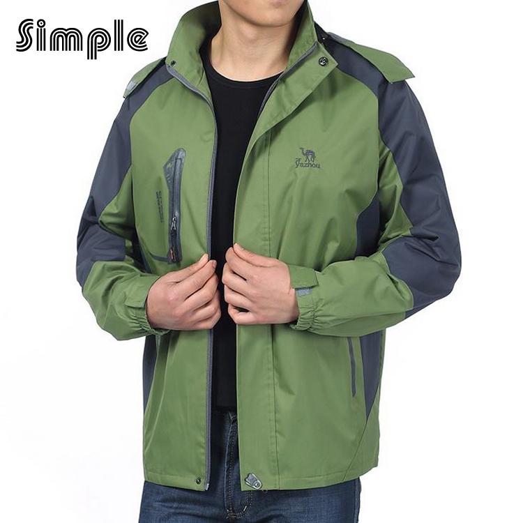 Hot Winter Spring man jacket softsell windproof 800g warm solid Stand collar Travel jackets waterproof jacket XL,XXL,XXXXL x60(China (Mainland))