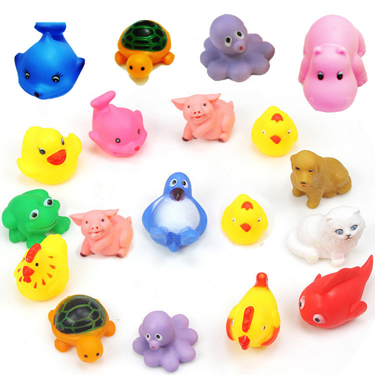 Lovely Animals Baby Children Swiming Bath Water Toys Sounding Animal Bathing Kids Safe Plastic - Fine jewelery store