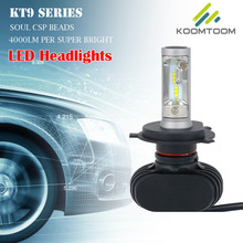 Buy 2 PCS LED Headlights Bulb H4 Fog Light Auto Lamps 6500K Cool White Lights 4000 LM PER 8000LM SETS IP67 Rain Resitant for $37.81 in AliExpress store