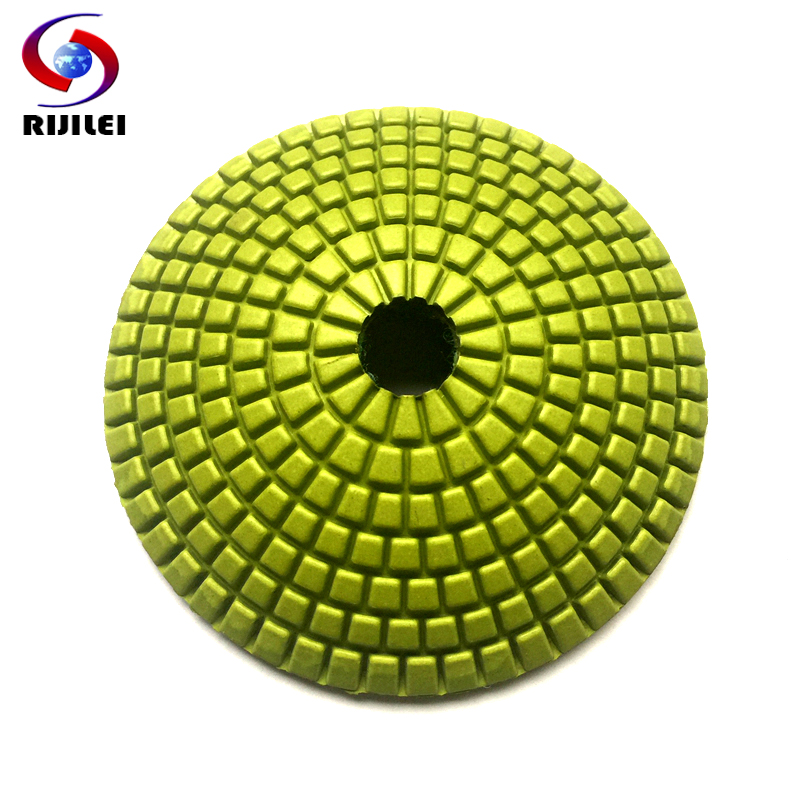 (N001) 100mm arc-shaped padbuffing pads 4inch Flexible Wet Polishing Pads,diamond buffing granite marble - RIJILEI GZ Store store