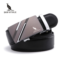 Buy SAN VITALE Business Men Belts Man Ceinture Luxury Genuine Leather Belt Buckle Wide Fashion Male Jeans Brand Pants Strap for $10.06 in AliExpress store