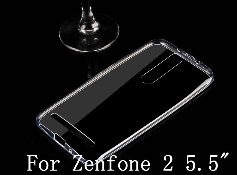 """new arrived case for ASUS Zenfone 2 case Ultra Thin Crystal Clear Rubber Soft Cover Case For ASUS zenfone2 ZE551ML 5.5"""" inch(China (Mainland))"""