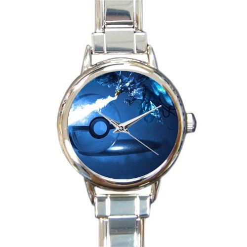 (Round Italian Charm Watch)Custom Pokemon card ice phoenix in the crystal ball(China (Mainland))