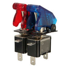 1PCS Red Blue 12V 20A Car Auto Cover LED Light SPST Toggle Rocker Switch Control On/Off Durable 2016 New Promotion Price(China (Mainland))