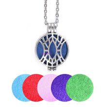 "Buy 1pc 28"" Chain Free Pads Vintage Silver Plated Net Aromatherapy Lockets Pendants Essential Oil Diffuser Locket Pendant Necklace for $1.38 in AliExpress store"