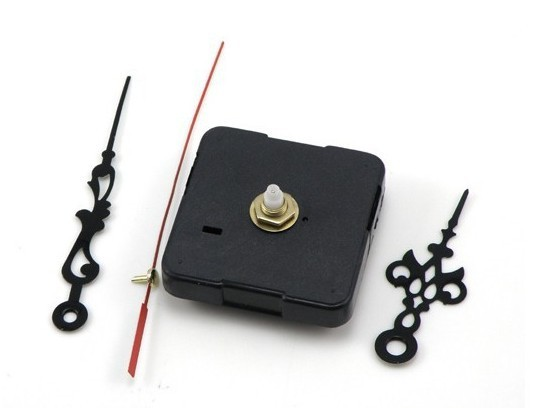 100% new Quartz Clock Movement Quite Spindle Mechanism Repair Kit + Hour Minute Second Hands Christmas gift