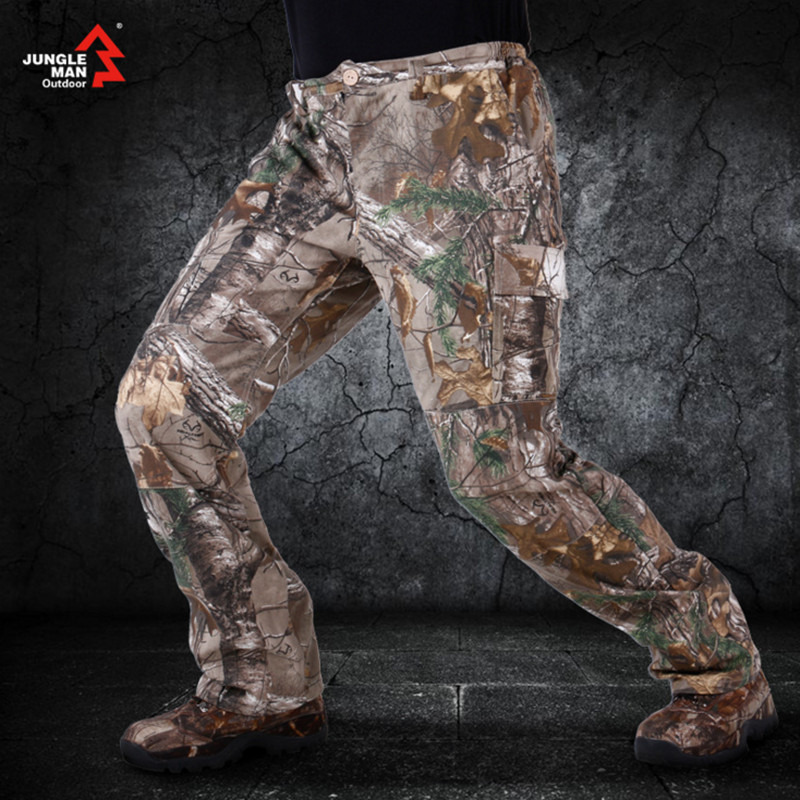 Jungle man biomimetic camouflage hunting cotton men's Spring and Autumn breathable military fans Tactical Pants C122