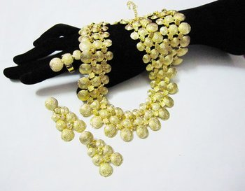 Gold plated Jewelry 4 sets,Best sell,JE197 gold with free shipping