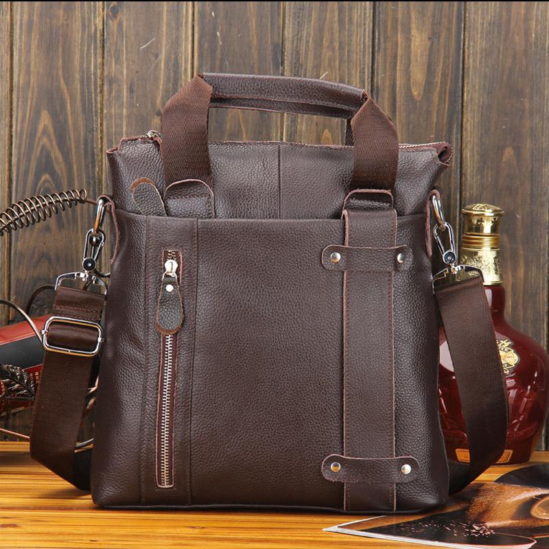 2015 Men Messenger Bags 100% Genuine Leather Briefcase Desinger Handbags Vintage Casual Business Men's Bags Bolsas SG632(China (Mainland))