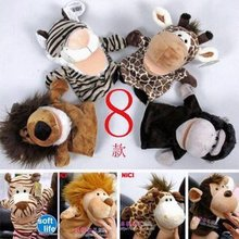 Free shipping Hot sale super cute plush toy nici forest animal hand puppet baby toy good for gift 4pcs a lot(China (Mainland))