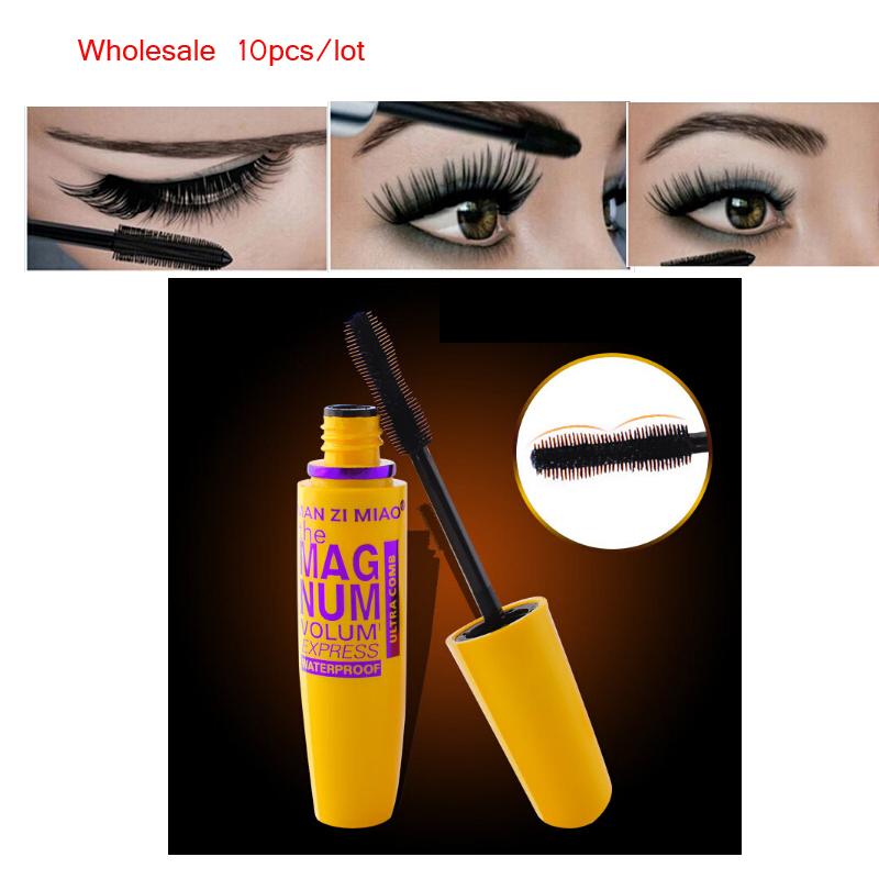 Wholesale 10pcs/lot Natural Curling Mascara Waterproof Lengthening Mascara Eyelash Extension Big Eye Cosmetic Makeup Tools(China (Mainland))