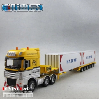 1:50 KDW FULL ALLOY TWO CONTAINER transport TRUCK/Container trailer truck/ TOY MODEL(China (Mainland))