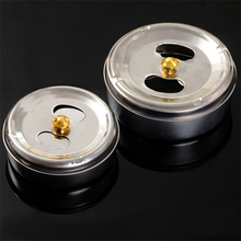 Creative Fashion Bar Home Office Trendy Smoking Accessories Stainless Steel Rotatable Ashtray(China (Mainland))