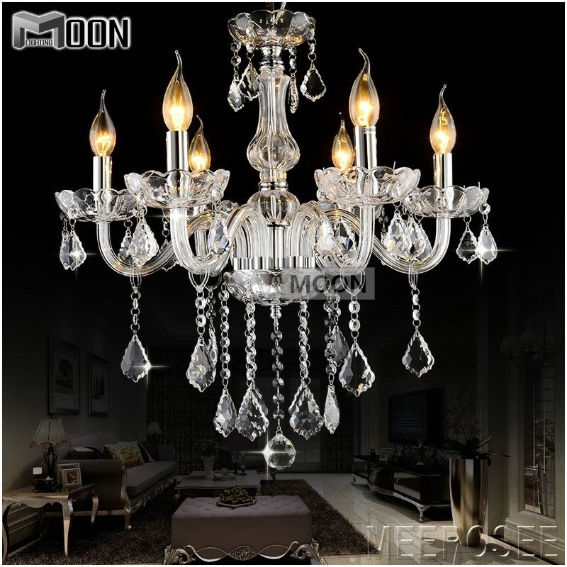 D23 Modern Crystal Glass Chandelier Light Fixture Cristal Chandelir Lustre for Home Living Different Colors and Ready Stock<br><br>Aliexpress