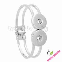 Buy new fashion Hard body bracelet 18 mm interchangeable snap button metal bangles bracelets jewelry women mens bracelets 2015 for $12.70 in AliExpress store